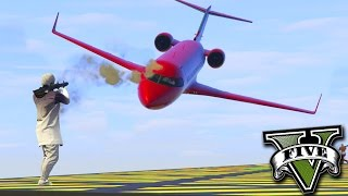 GTA V Online: RPG vs AVIÃO BOING - BATALHA ÉPICA no CÉU!!!
