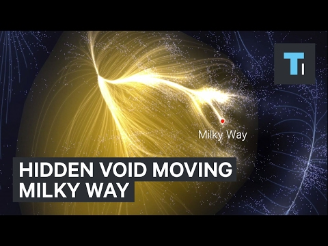 The Milky Way is moving through space because of hidden void