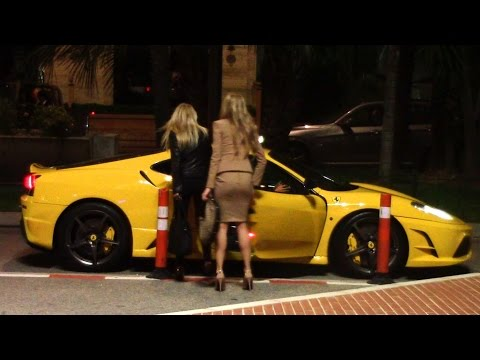 LUCKY GUY PICKS UP TWO HOT CHICKS IN HIS FERRARI - Monaco night life 2014 HQ