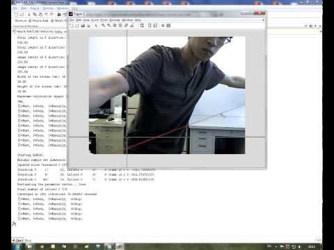 A MATLAB screen-camera calibration program