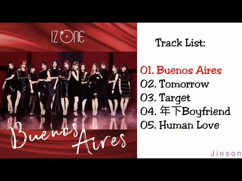 Izone Japan Tracklist