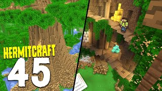 HermitCraft 7: 45 | MAKING A BASE IN THE TREE