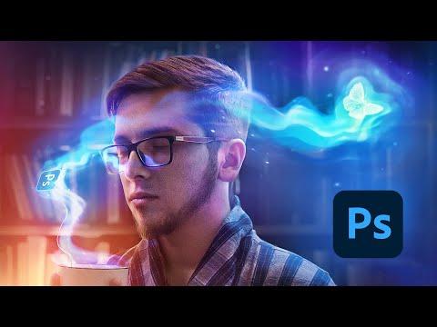 Как нарисовать магию в Фотошопе при помощи планшета или мышки  (eng Subs)