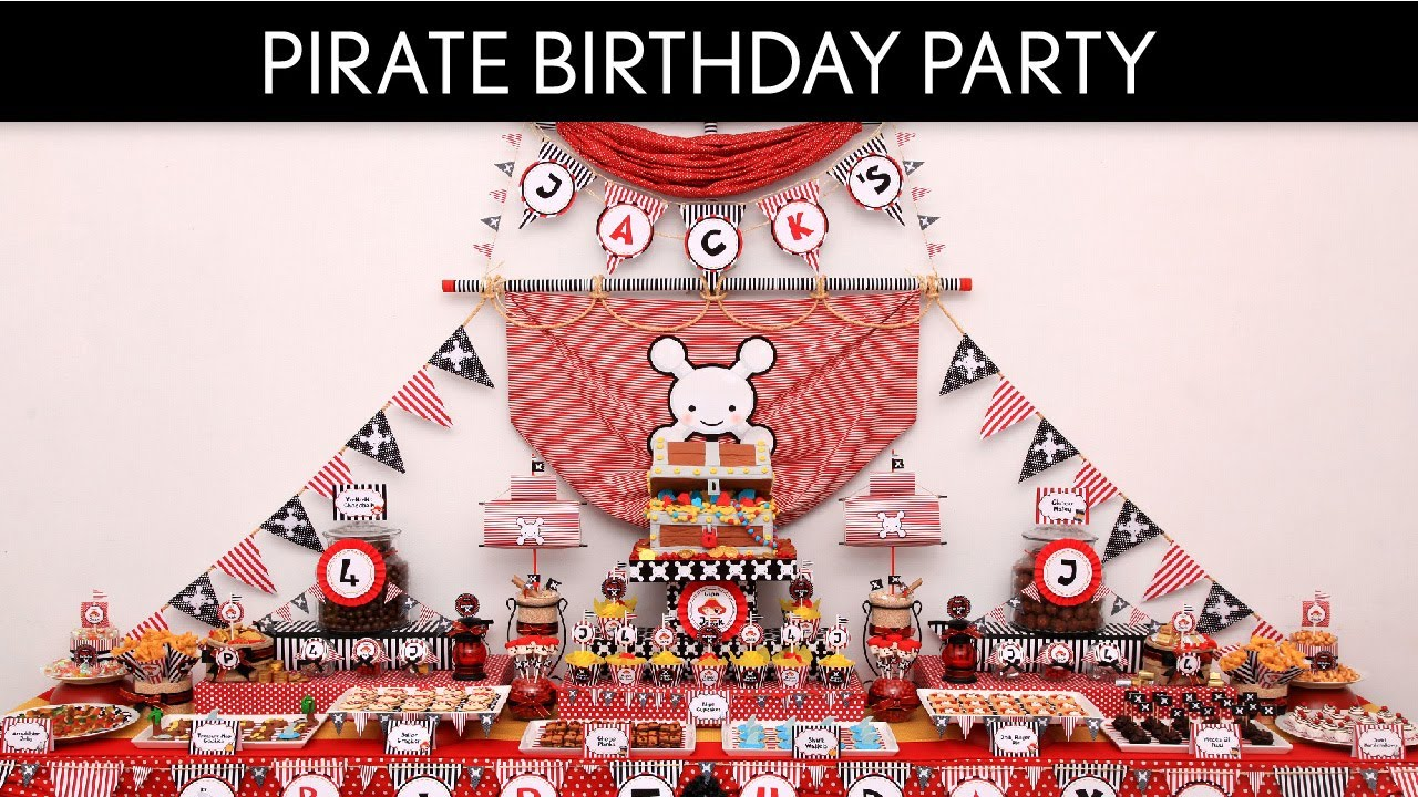Pirate Birthday Party Ideas Pirate Boy Red B6 Youtube