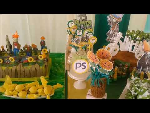 Decoracion plantas vs zombies fiesta infantil piura per for Decoracion con globos plantas contra zombies