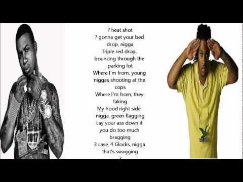 "Gucci Mane & Waka Flocka Ft. YG Hootie- ""15th & The 1st"" (LYRICS ON SCREEN)"