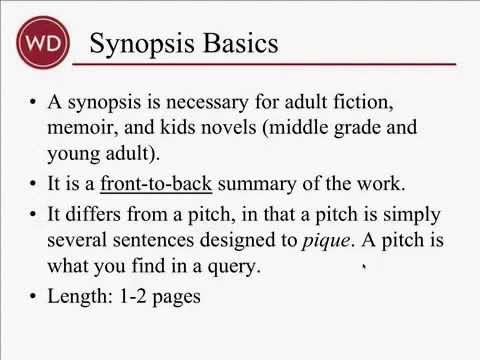writing a synopsis for a book By chuck sambuchino and the editors of writer's digest books your guide to an effective novel synopsis by: you should write a synopsis following these.