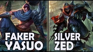 FAKER plays YASUO vs A Korean SILVER ZED