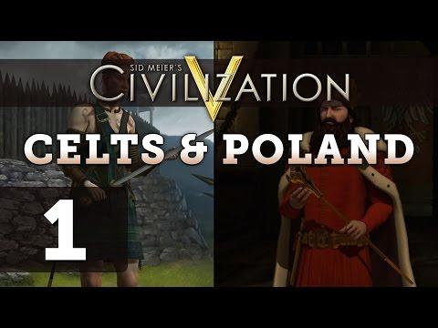 Civilization 5 Deity Twins (Poland / Celts) - Part 1