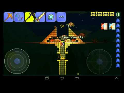 Terraria Mobile Turtle Shell Farm! - YouTube