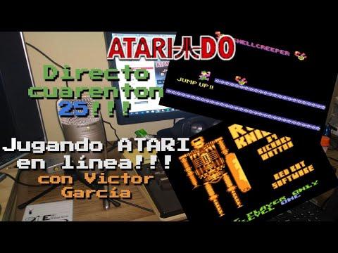 Directo 40enton 25!!!! Jugando ATARI 8 bit en línea con Víctor García (ATARI 8 BIT NETWORK GAME)