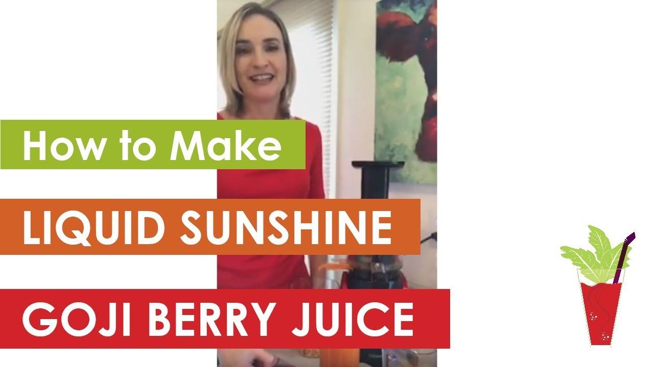 Liquid Sunshine Goji Berry Juice Video Juicing And Plant Based Diet Health Coach Stephanie Leach