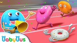 Cuộc đua của những chiếc bánh vòng | Donut song | Nhạc thiếu nhi vui nhộn | BabyBus