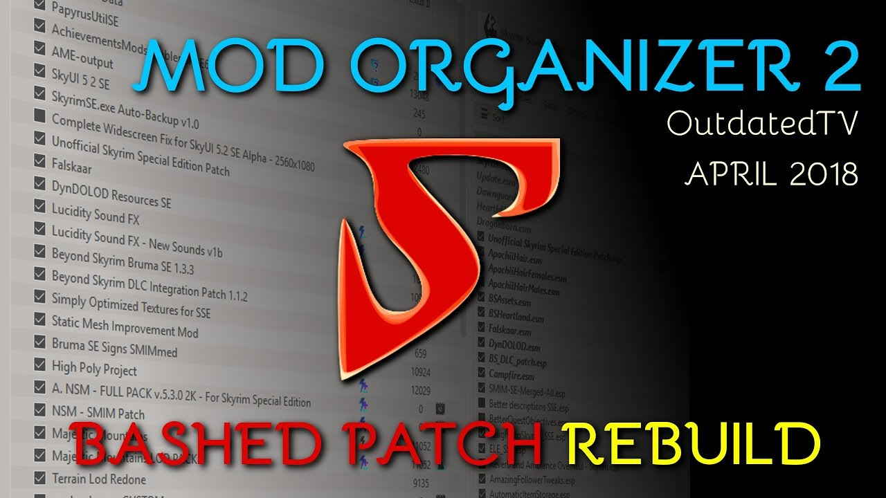 Mod Organizer 2 - Bashed Patch REBUILDING explained for general use &  TUCOGUIDE