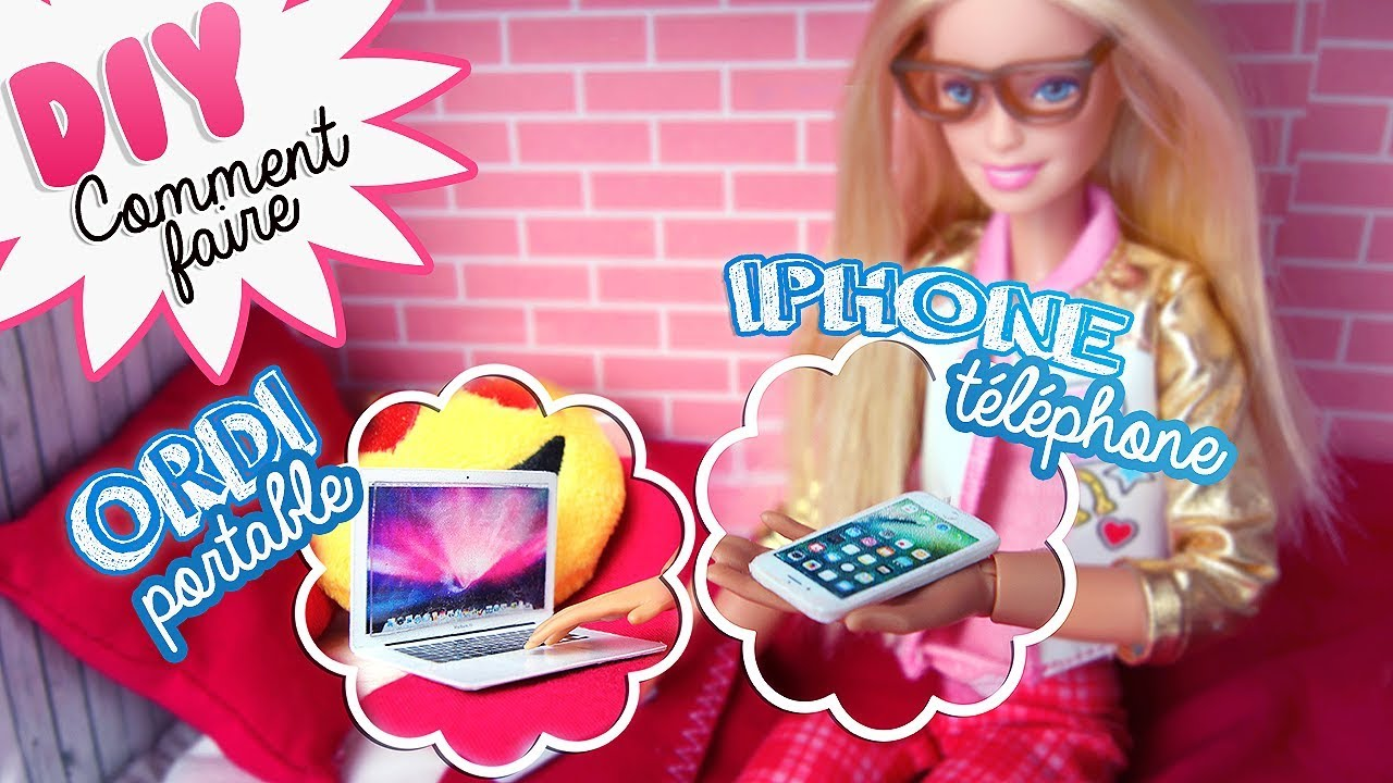 Diy Barbie Comment Faire Un Téléphone Et Un Ordinateur Pour Poupées