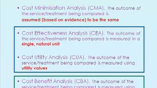 What is Cost Benefit and Cost Effectiveness Analysis? by Prof. Katherine Payne