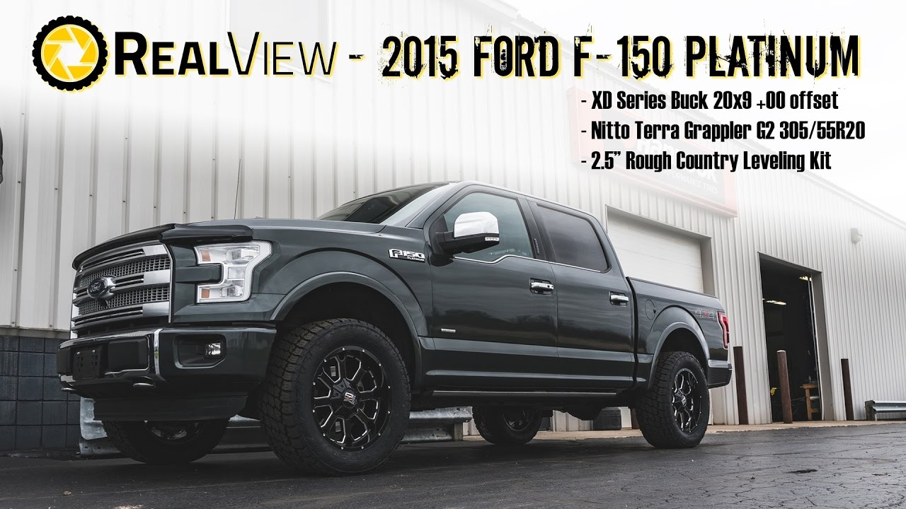 "F150 Platinum With Leveling Kit >> RealView - Leveled 2015 Ford F-150 w/ 20"" XD Series Bucks & 33"" Nitto Terra Grappler G2s - YouTube"