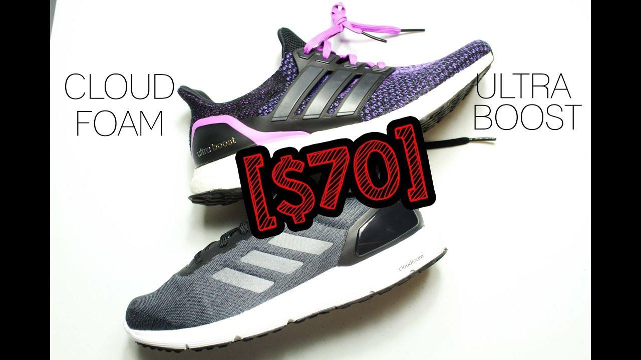 Adidas ULTRABOOST VS ADIDAS CLOUDFOAM TECHNOLOGY : $70 Sneaker VS $180 Sneaker