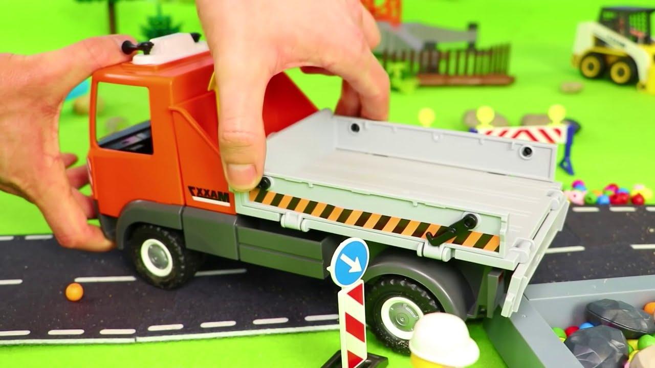 Fire Truck Train Bulldozer Tractor Excavator Police