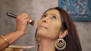 Easy Face & Eye Makeup Tutorial By Indian Wedding Saree
