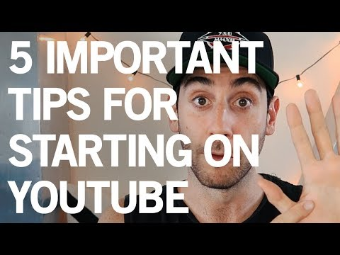 5 TIPS For Starting A SUCCESSFUL YouTube Channel 💥
