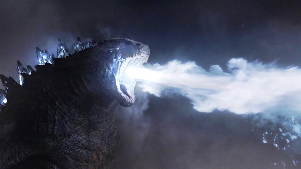 远古巨兽被唤醒-喷出10万度的热能射线-秒杀它的死敌-速看科幻电影-哥斯拉