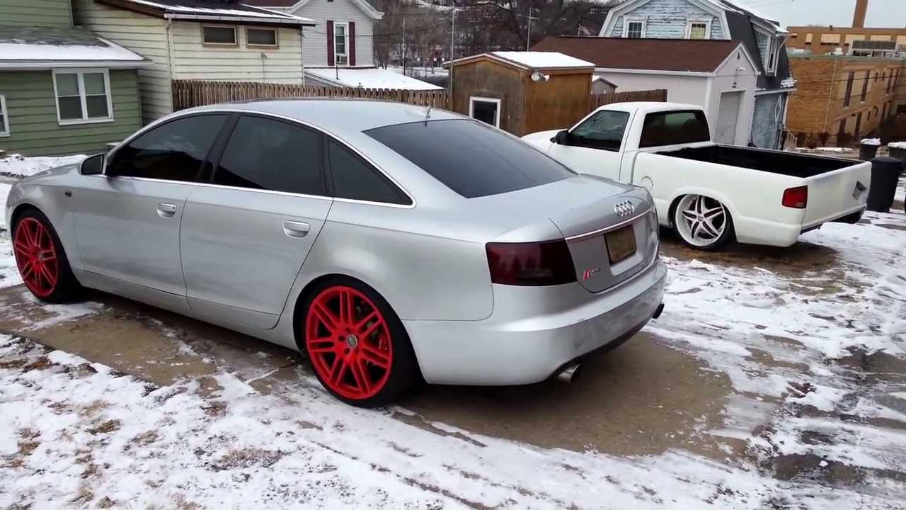 Audi A6 Replica Rs6 20 Quot Wheels Red Plasti Dip Youtube