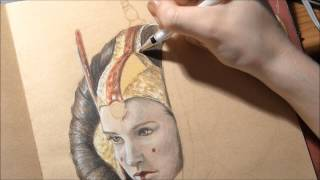 Speed drawing star wars: The Queen Amidala