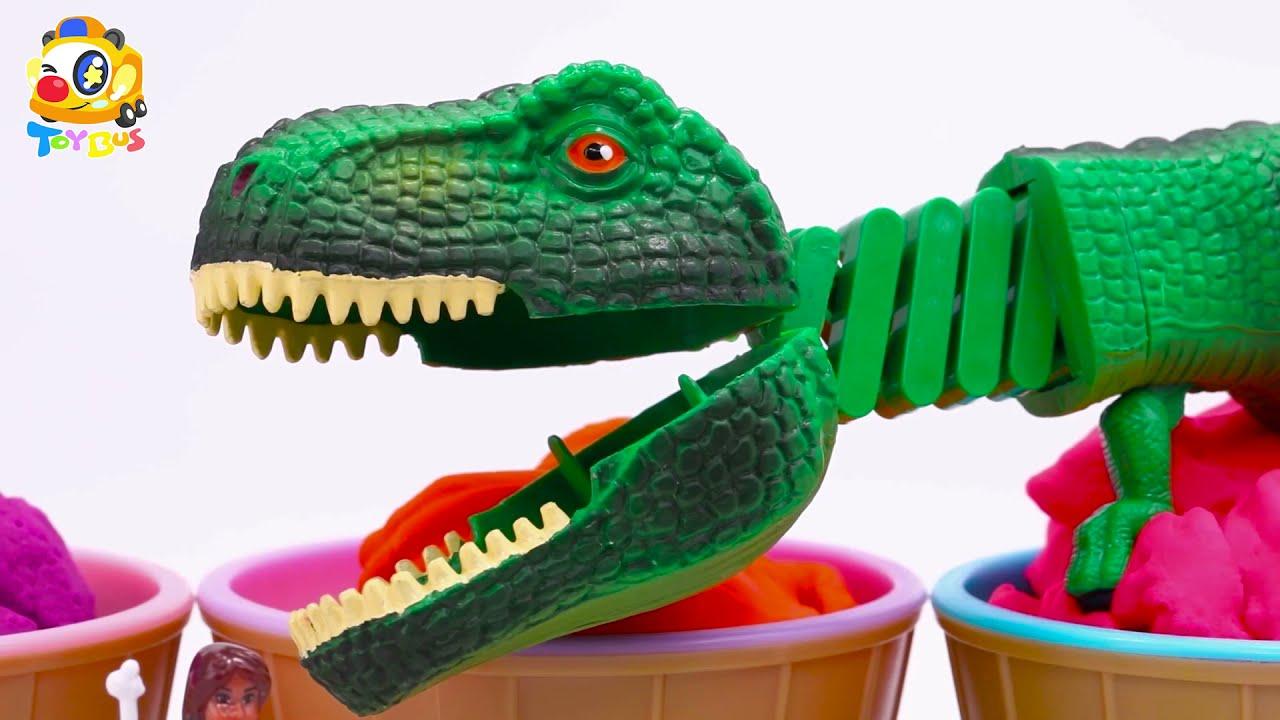 키키와의 공룡세계여행 | 공룡이 나타났다 ! | 베이비버스 장난감 친구들