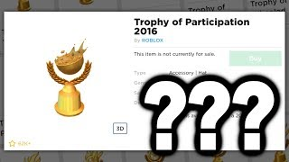 What are these new Roblox Trophies?