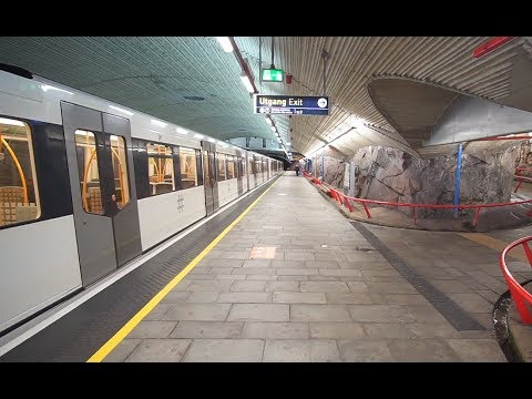 Norway, Oslo, Metro Ride From Grorud To Romsås, 1X Elevator
