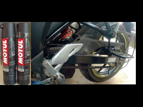 How To Clean & Lube Chain Of Suzuki Gixxer 155 & SF