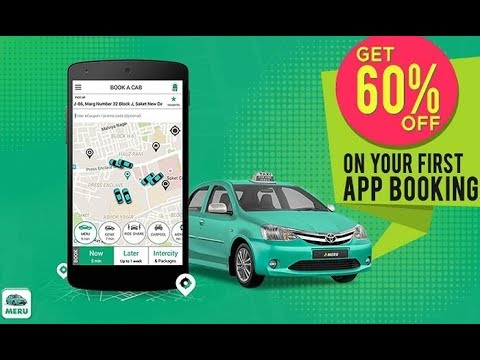 Meru Cabs Online Bookings | Get RS.400 Cashback | Meru Outstation In Telugu