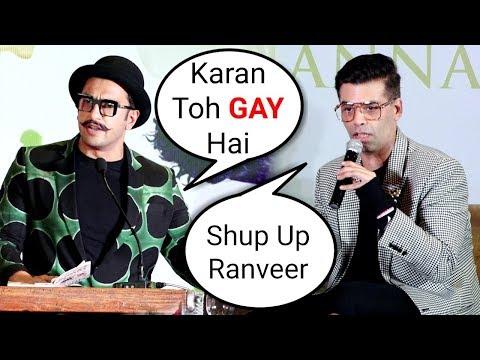Ranveer Singh PUBLICLY Calls Karan Johar GAY After Section 377 Verdict