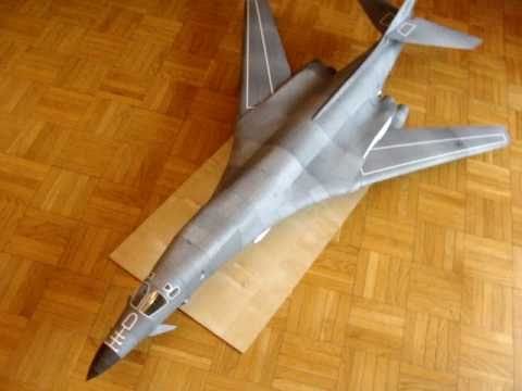 Papercraft B-1B Lancer model kartonowy (paper model) (cz.1)