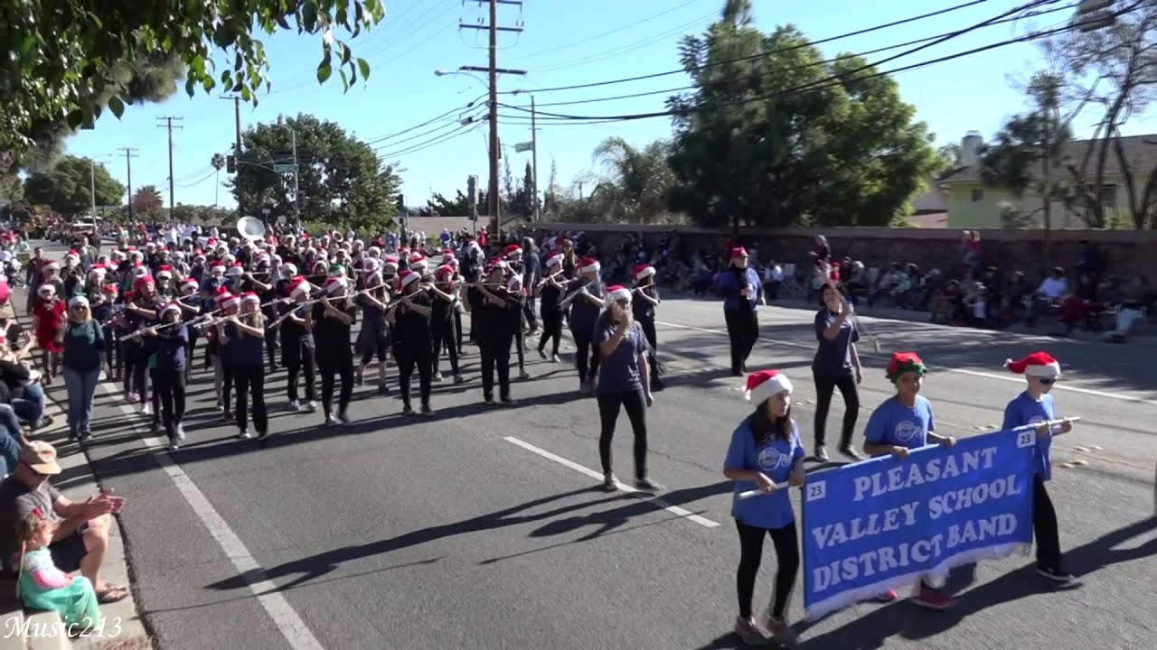 Camarillo Christmas Parade.Pleasant Valley School District Band 2015 Camarillo Christmas Parade
