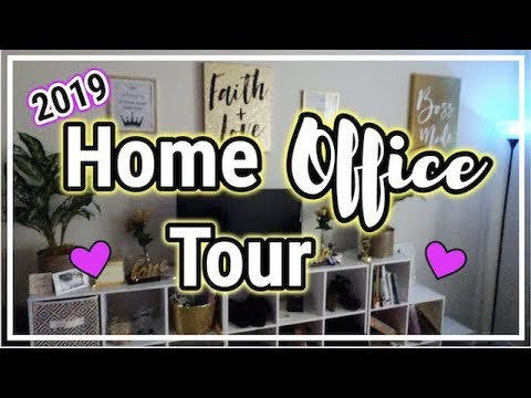 OFFICE TOUR 2019 | HOME OFFICE TOUR | OFFICE DECOR | HOW TO DECORATE YOUR OFFICE | ALMONDJOYALICIA