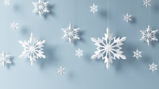 Paper snowflake tutorial - learn how to make snowflakes in 5 minutes