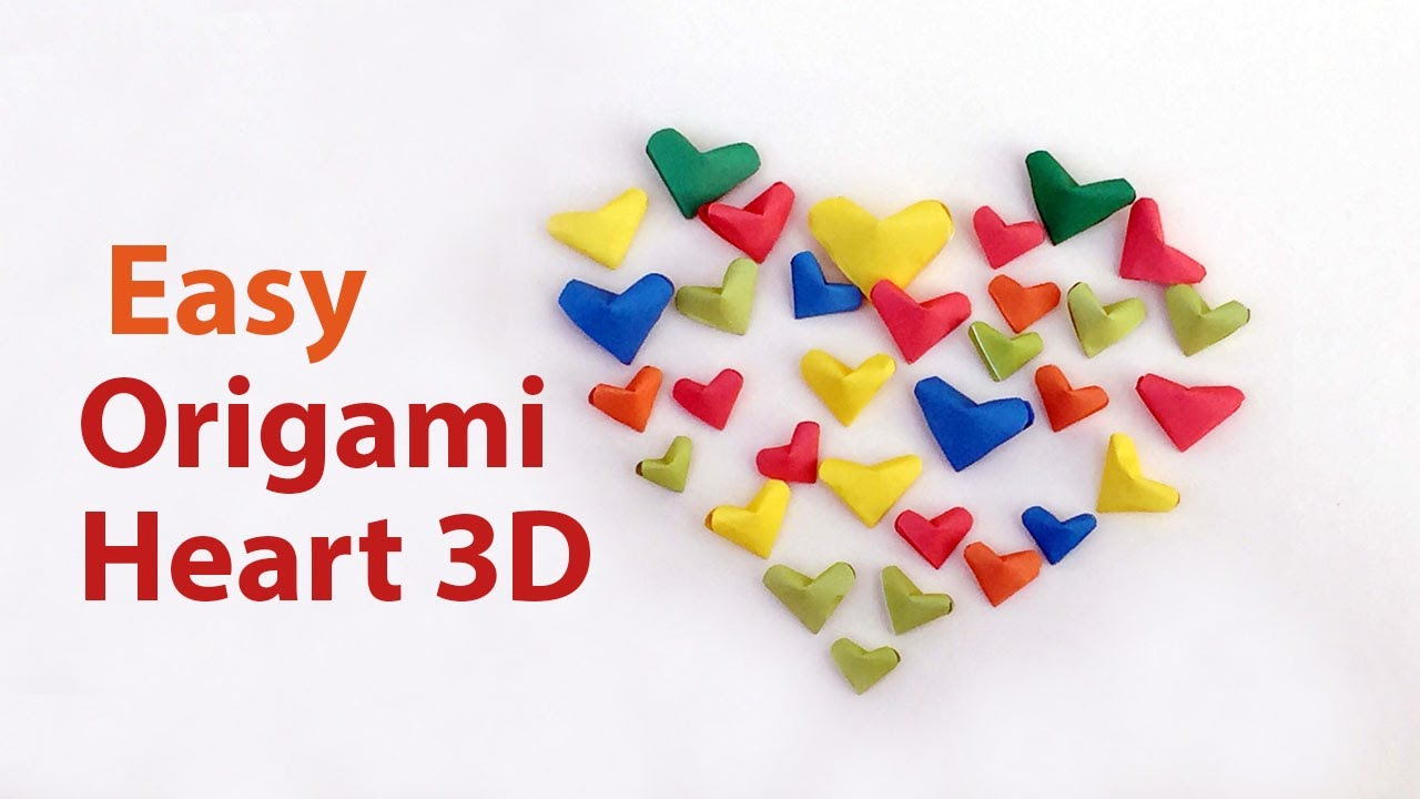 Diy easy origami heart 3d for valentines day cute beautiful diy easy origami heart 3d for valentines day cute beautiful shape step by step instructions jeuxipadfo Gallery