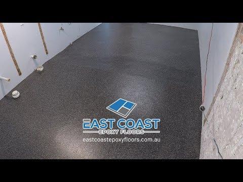 Port Macquarie Lighthouse Beach Female Toilet Epoxy Floor Installation Time Lapse -1 DAY JOB!