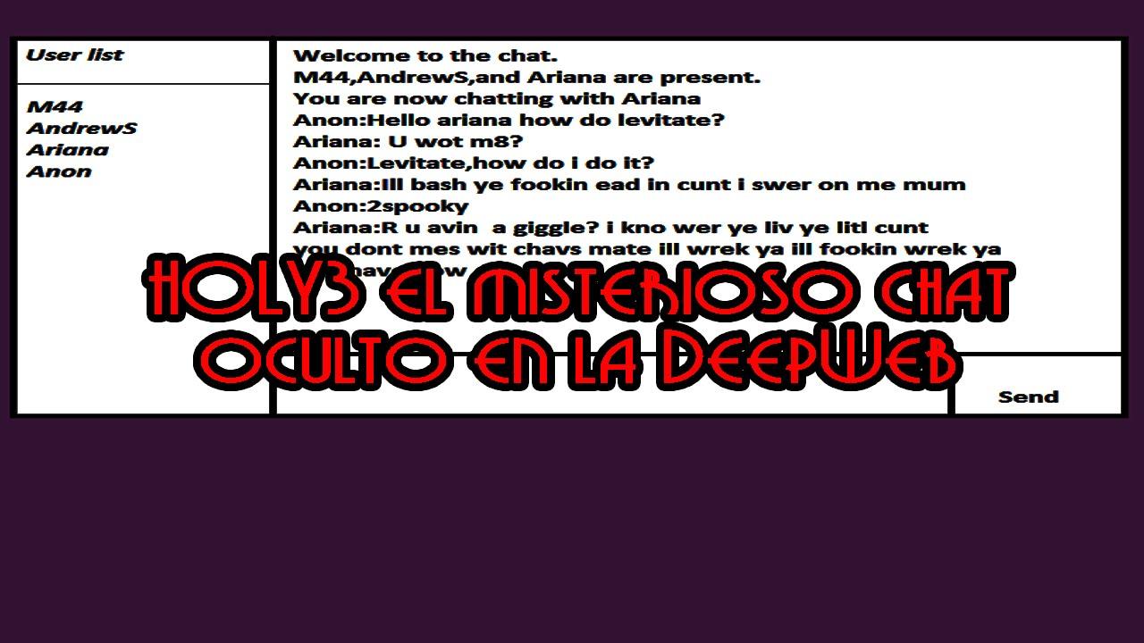 Holy3 el oscuro chat oculto en la DeepWeb
