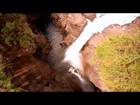 Elk Falls ,drone footage, Vancouver Island British Columbia with Music