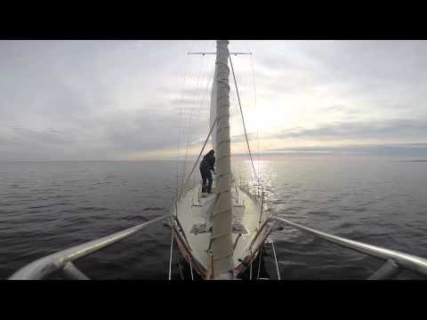 S/V Corsair Sails South Single-Handed Herring Bay to Solomons Island