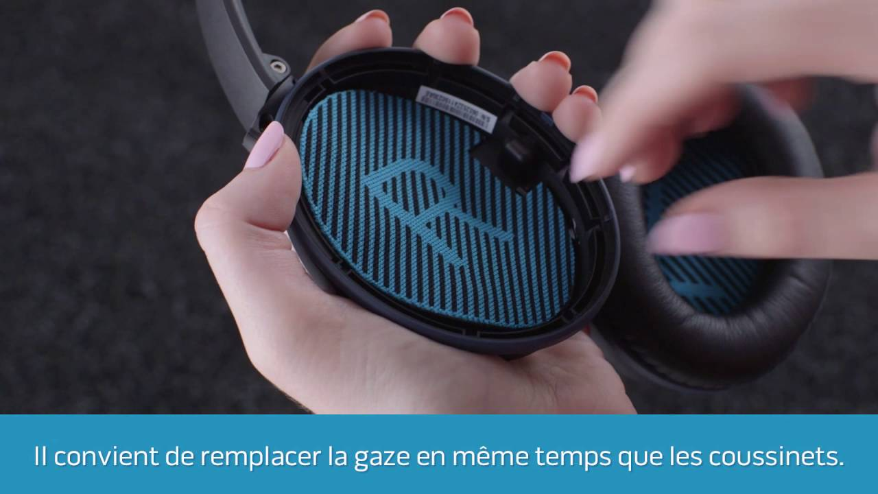 Remplacement Des Coussinets Sur Votre Casque à Réduction De Bruit