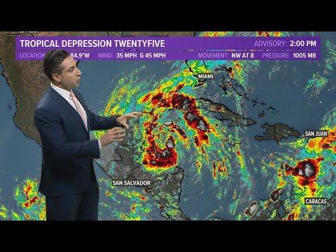 Tropics Forecast Update: Tropical Depression 25 forms, Hurricane Marie churns