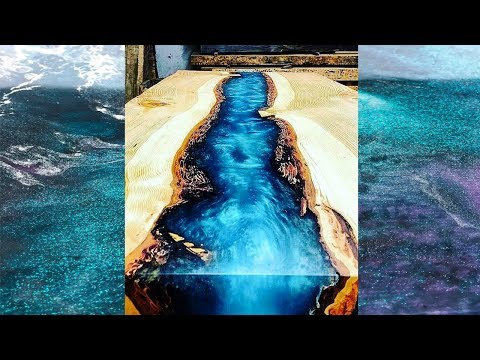 Epoxy Resin VOLTAGE RIVER Table MAKING PROCESS 10 IDEAS with epoxy resin WOODworking projects