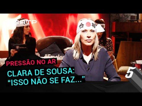 Clara de Sousa: 'Isso não se faz...' | 5 Para a Meia-Noite | RTP