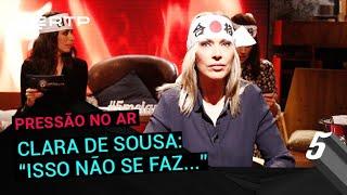 """Clara de Sousa: """"Isso não se faz...""""   5 Para a Meia-Noite   RTP"""