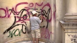 Lotzia, Heraklion, Crete - Graffiti Removal Phase 1