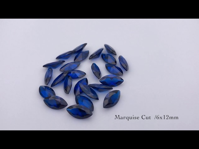 Synthetic Blue Spinel 113# Color Marquise Cut Gemstones China Supplier